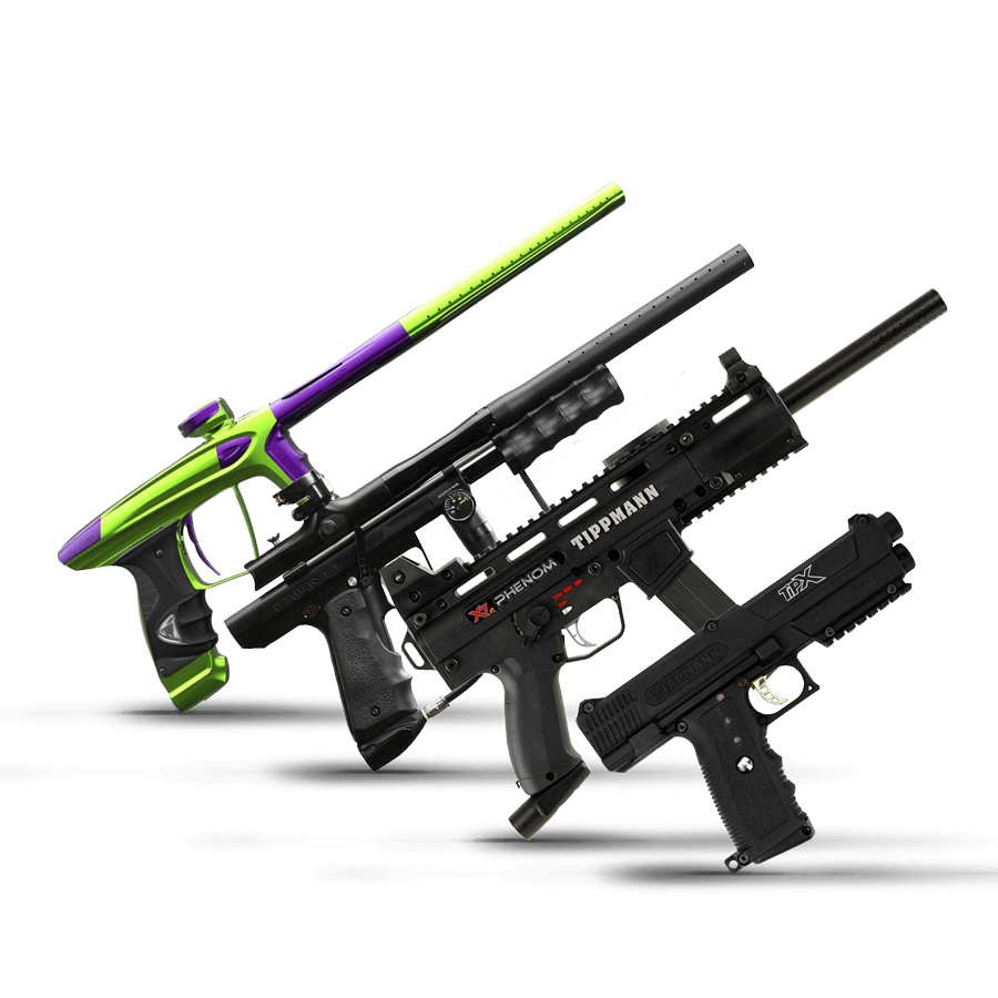 paintball guns and markers