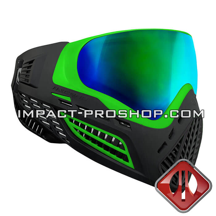 virtue via ascend lime emerald paintball mask