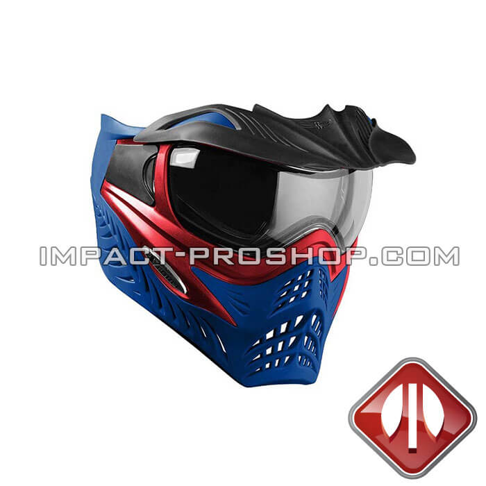 vforce grill se red on blue paintball mask