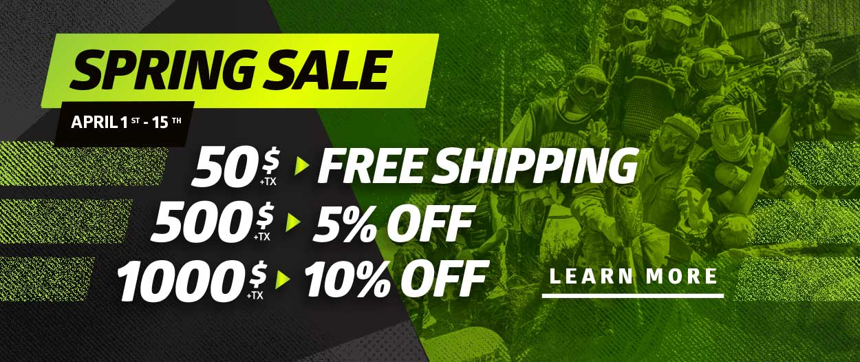 Paintball spring sale