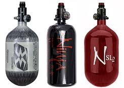 paintball compressed air tanks