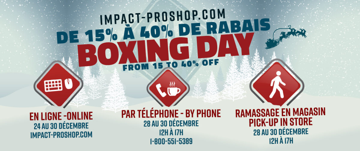 Boxing day 2020! From december 24 to december 30!